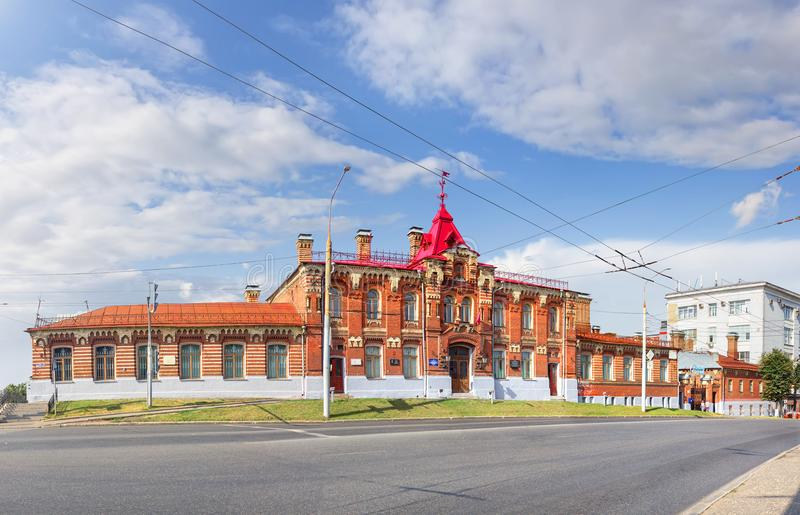 The building of the former Zemsky craft school in Vladimir. Russia royalty free stock photography