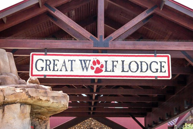 Great Wolf Lodge sign stock photos