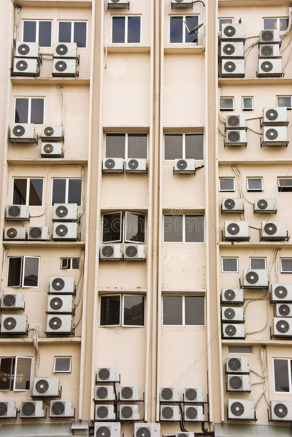 Download Building Full Of Aircon Units Royalty Free Stock Photography - Image: 4894857