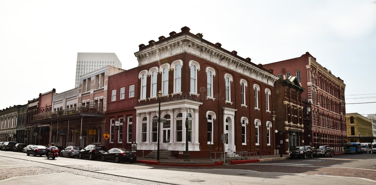 Building in Galveston Texas. royalty free stock images