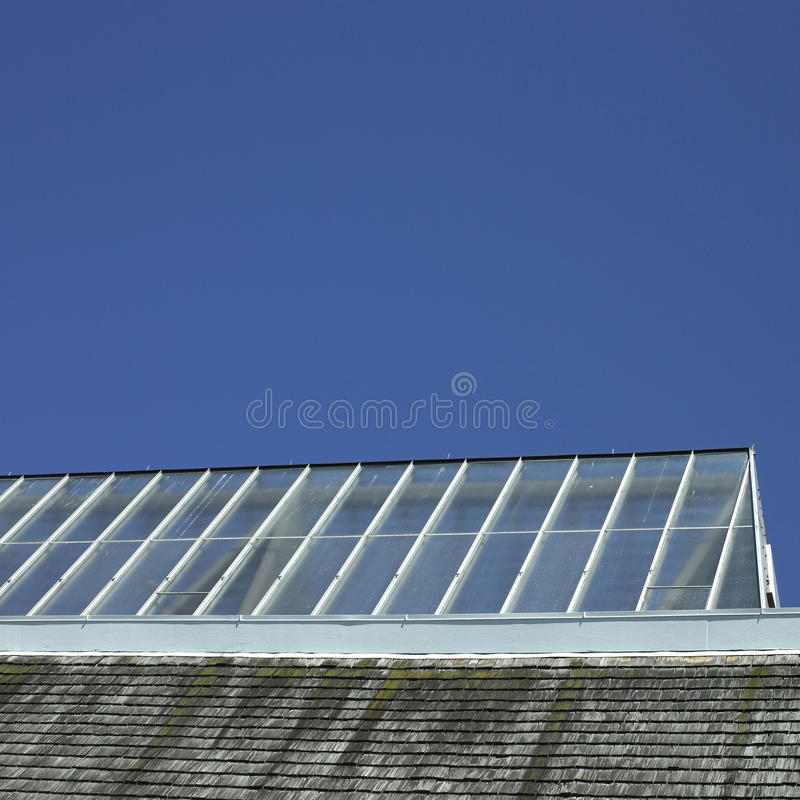 Building with glass roof stock photos