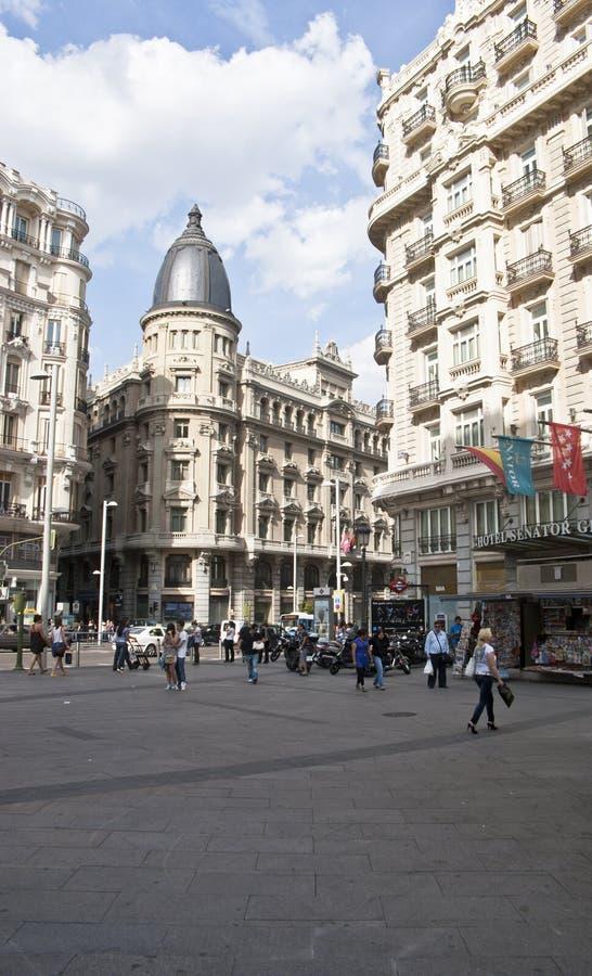 Download Building At The Gran Via.Madrid, Spain. Editorial Image - Image: 25511920