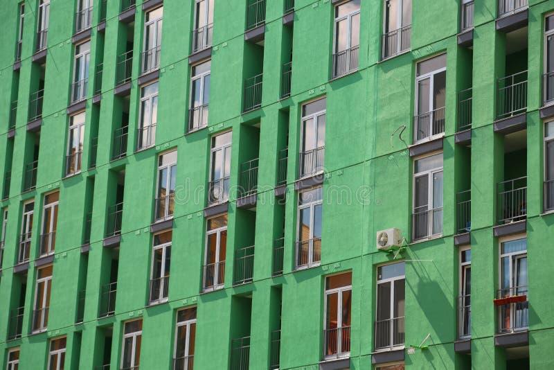 Building with green facade stock photo