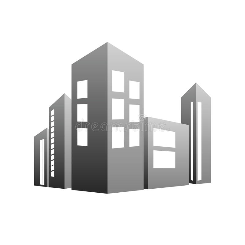 Building grey vector vector illustration