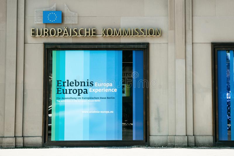 The building of the headquarters of the European Commission in Berlin in Germany. royalty free stock photography