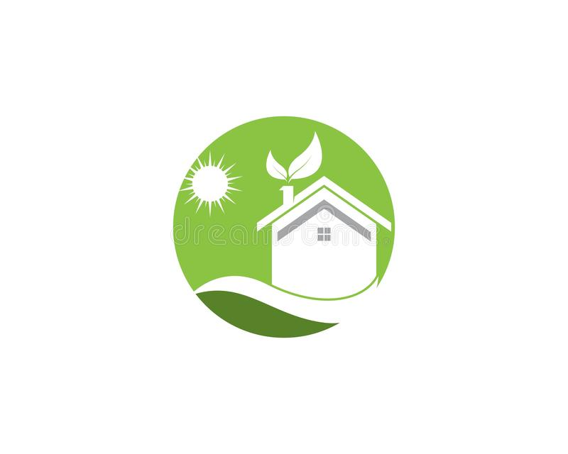Building home nature icon vector illustration royalty free illustration