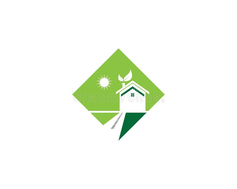 Building home nature icon vector illustration stock illustration