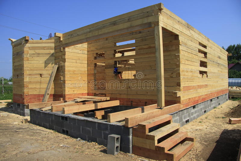 Building house. In the country stock photography