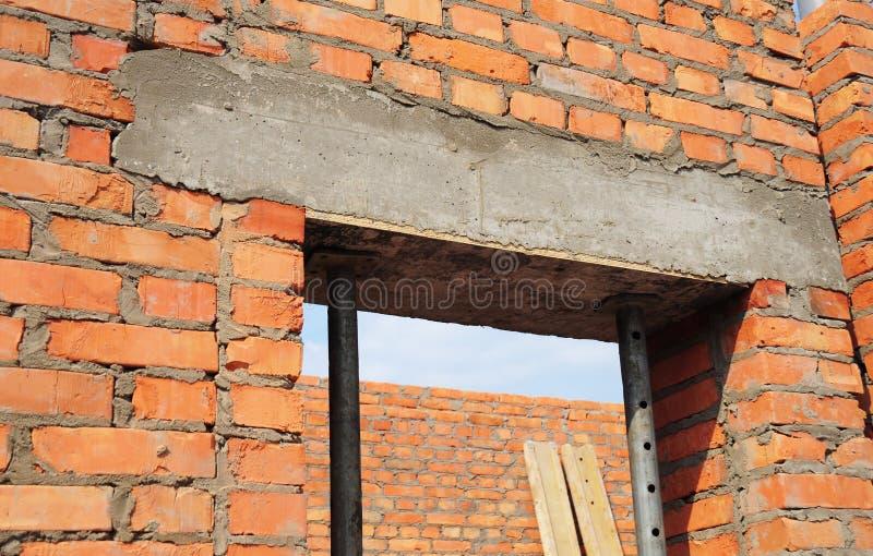 Download Building House Construction. Window Door Concrete Lintel With Iron Bar On Brick Unfinished & Building House Construction. Window Door Concrete Lintel With Iron ...