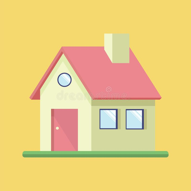 Building house flat icon royalty free stock photos