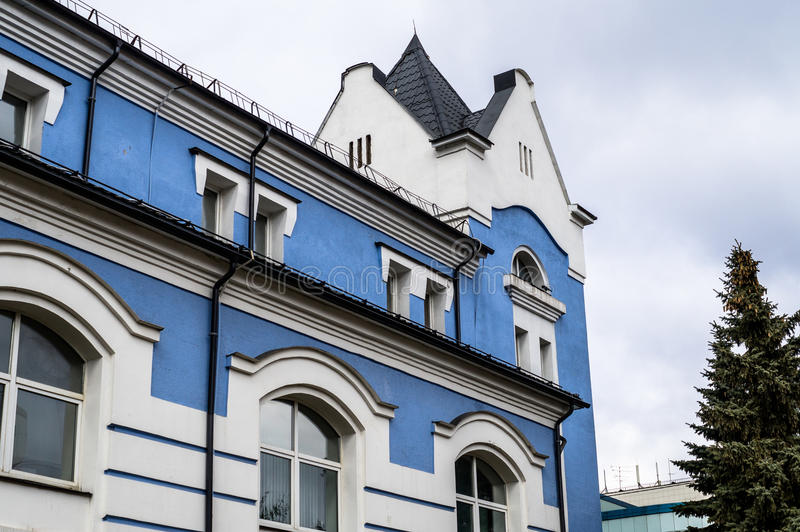 Building the House of music in Kaluga in Russia. Kaluga House of music is one of the largest venues for concerts, exhibitions and other events. Here there is stock images
