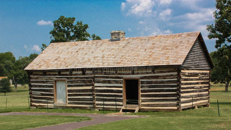 Slave Quarters on the Property of Former President, Andrew Jackson. A building housing slaves on the property of former US president, Andrew Jackson located in royalty free stock photography