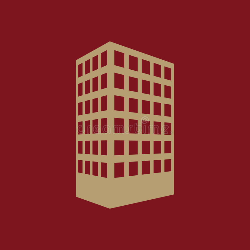 The building icon. Apartment and skyscraper, townhouse, house symbol. Flat vector illustration