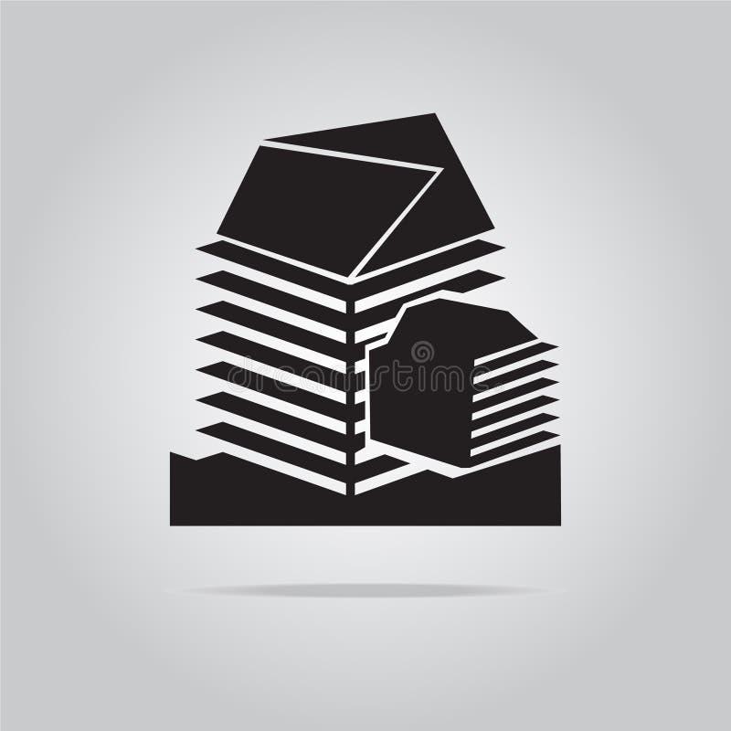 Building icon. Flat style vector illustration vector illustration