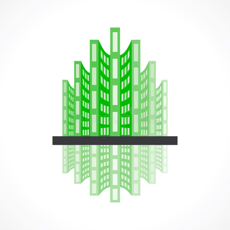 Building icon design royalty free illustration