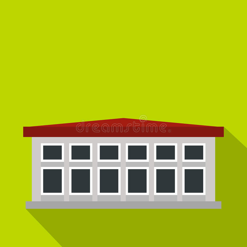 Building icon, flat style. Building icon. Flat illustration of building vector icon for web royalty free illustration