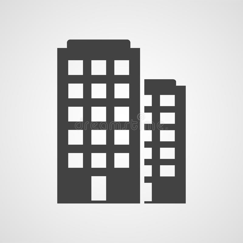 Building icon. Isolated building icon on white royalty free illustration