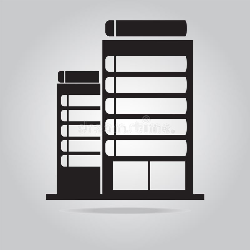 Building icon. Office Building icon vector illustration royalty free illustration