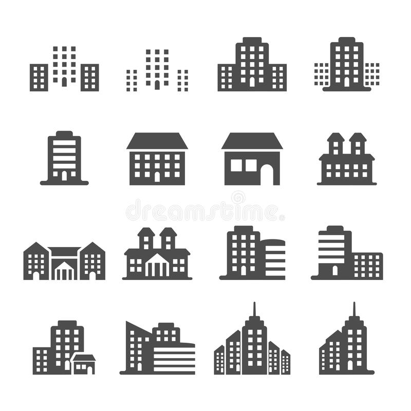 Building icon set 4, vector eps10 royalty free illustration