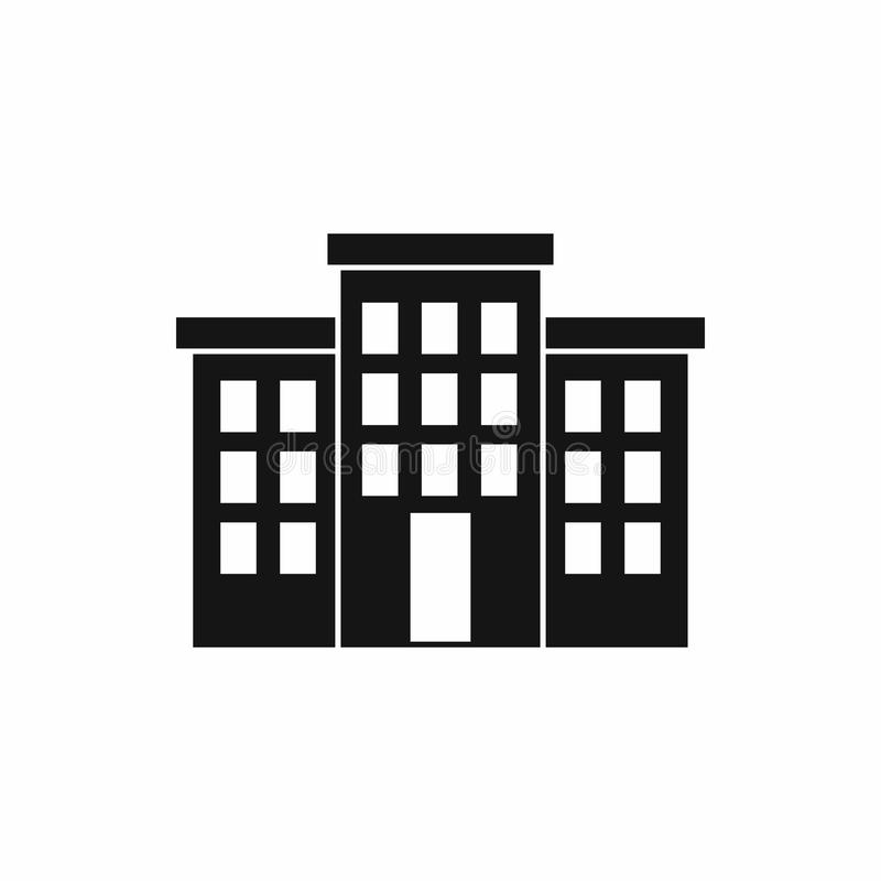 Building icon, simple style. Building icon in simple style isolated on white background. Structure symbol stock illustration