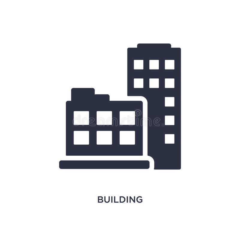 building icon on white background. Simple element illustration from strategy concept vector illustration