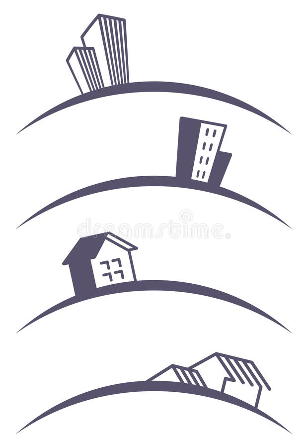 Download Building icons stock vector. Image of design, isolated - 17388964