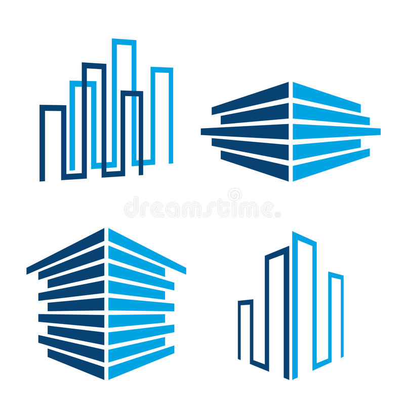 Building icons royalty free illustration