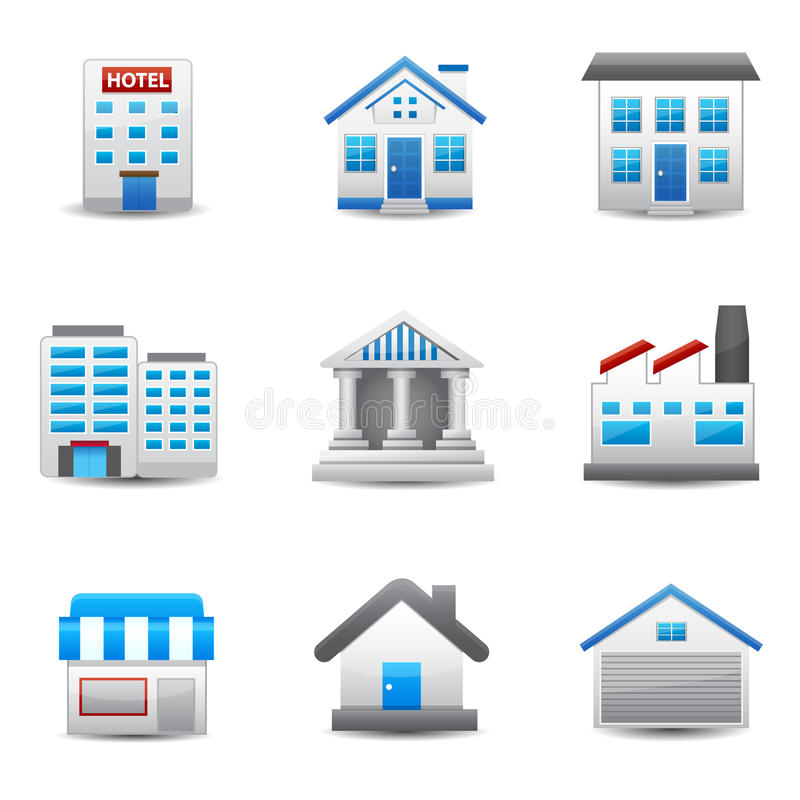 Building Icons. This image is a vector illustration. Building Icons royalty free illustration