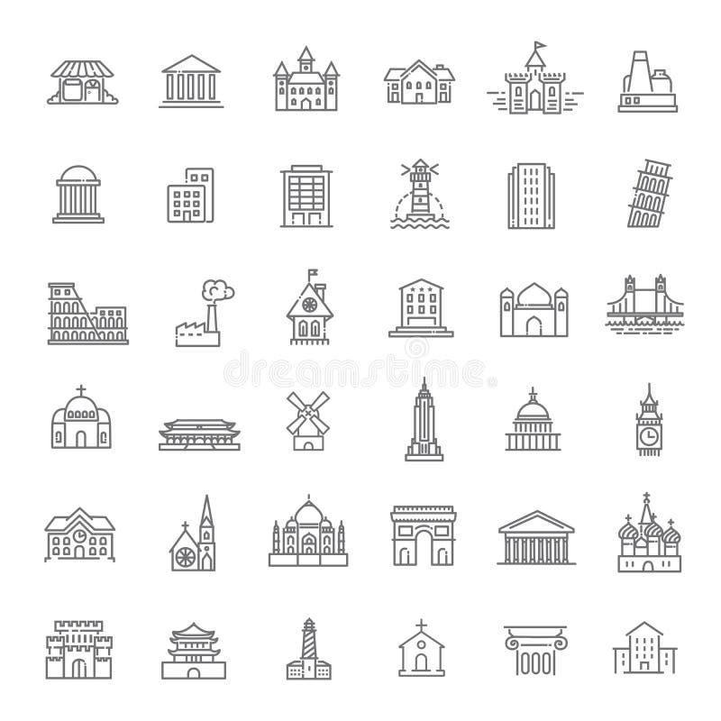 Building Icons set, Government. Landmarks vector illustration