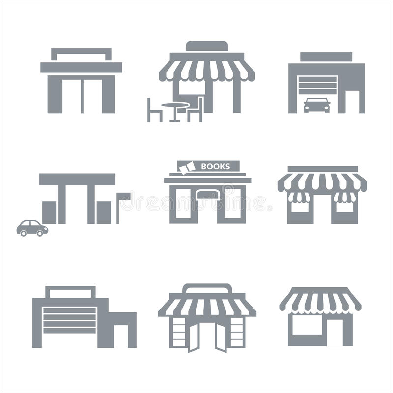 Download Building icons stock vector. Image of objects, structure - 34480071