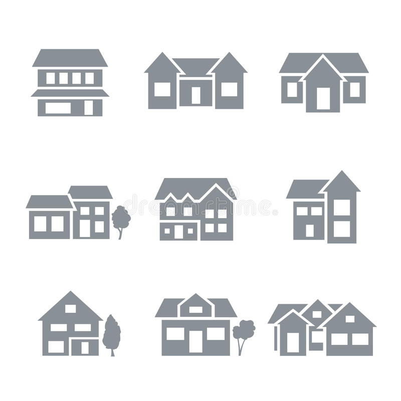 Download Building icons stock vector. Image of home, icon, symbol - 34480066