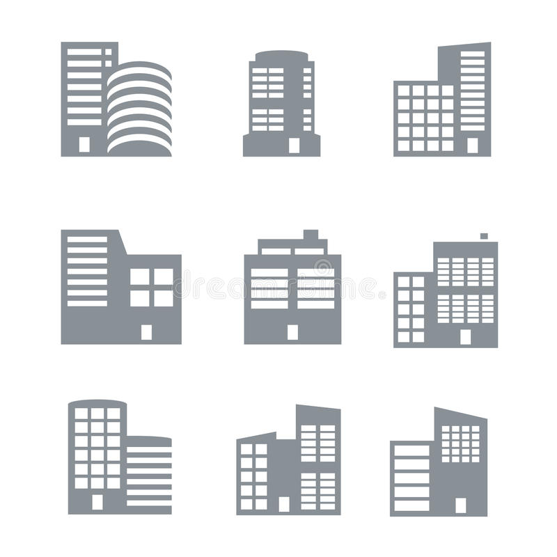 Download Building icons stock vector. Image of outline, contour - 34480081