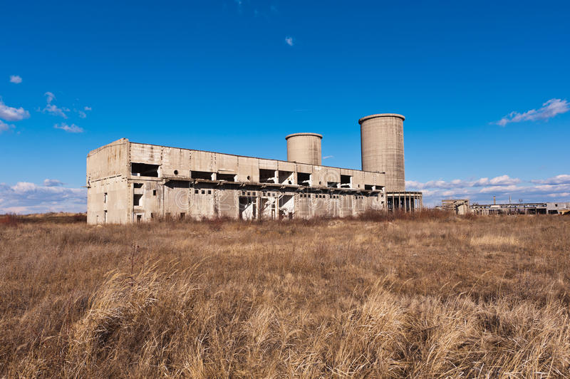 Building industrial degradation royalty free stock photo