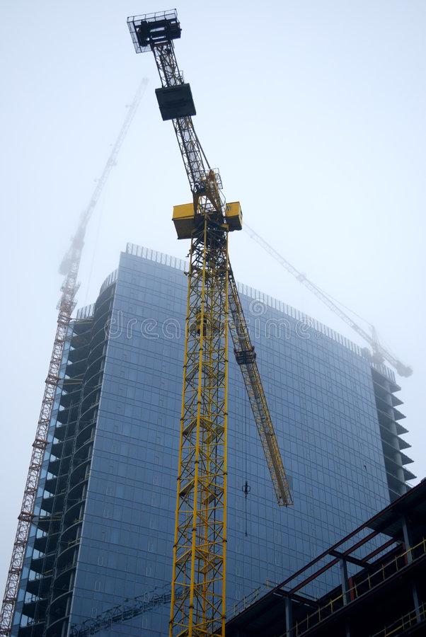 Download The Building Industry In A Fog Royalty Free Stock Image - Image: 7094036