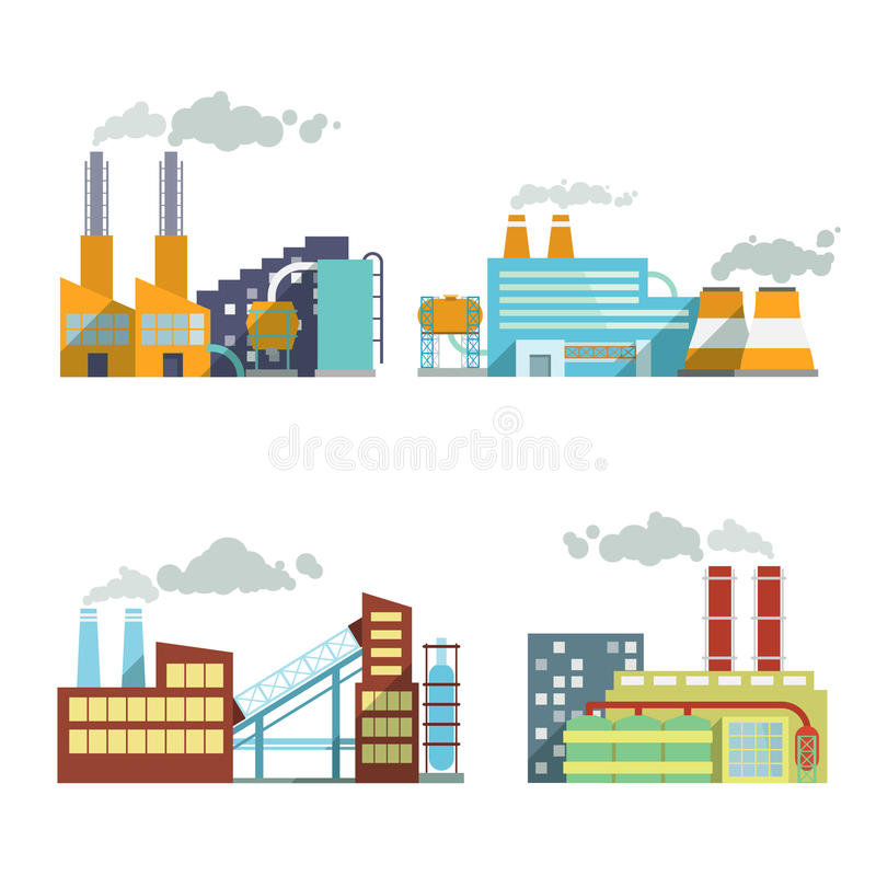 Building industry icons set royalty free illustration