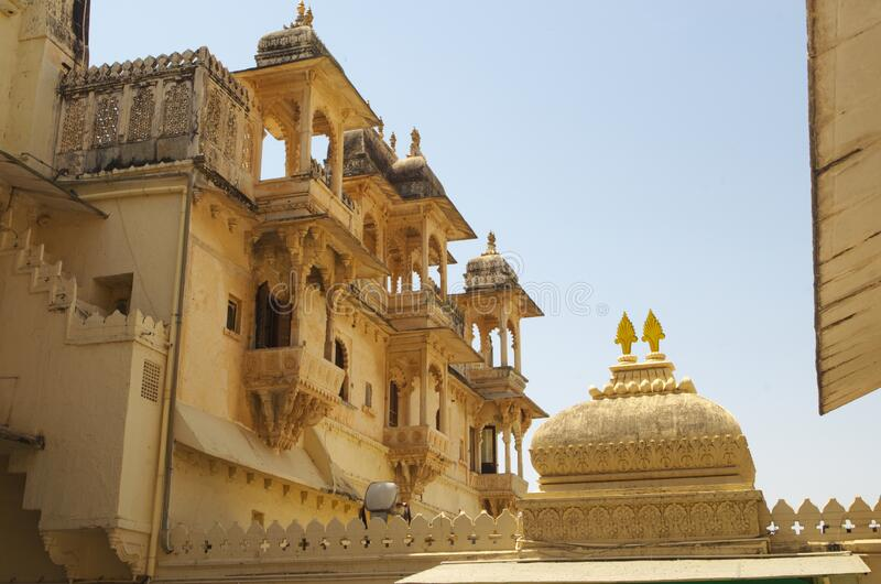 Building Inside Udaipur Palace-2 royalty free stock images