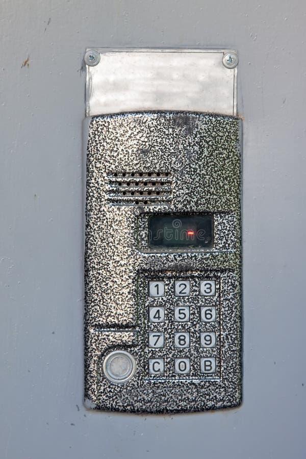 Download Building intercom in door stock illustration. Image of entrance - 25324844