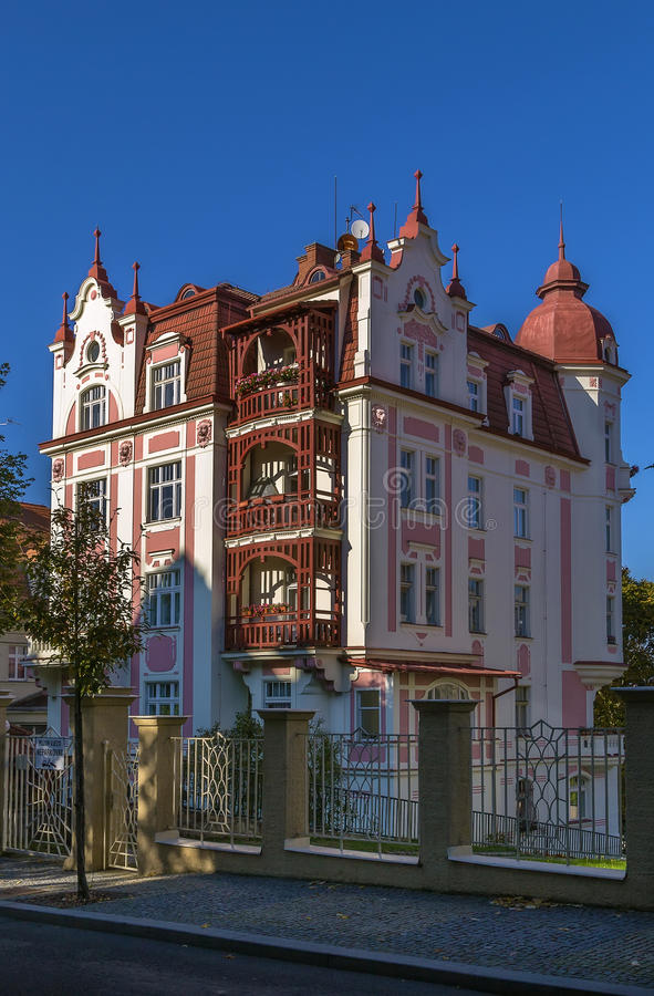 Building in Karlovy Vary, Czech republic stock photo