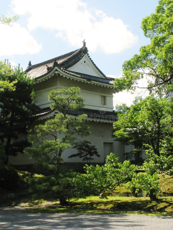 A building in Kyoto Nijo castle gardens stock images
