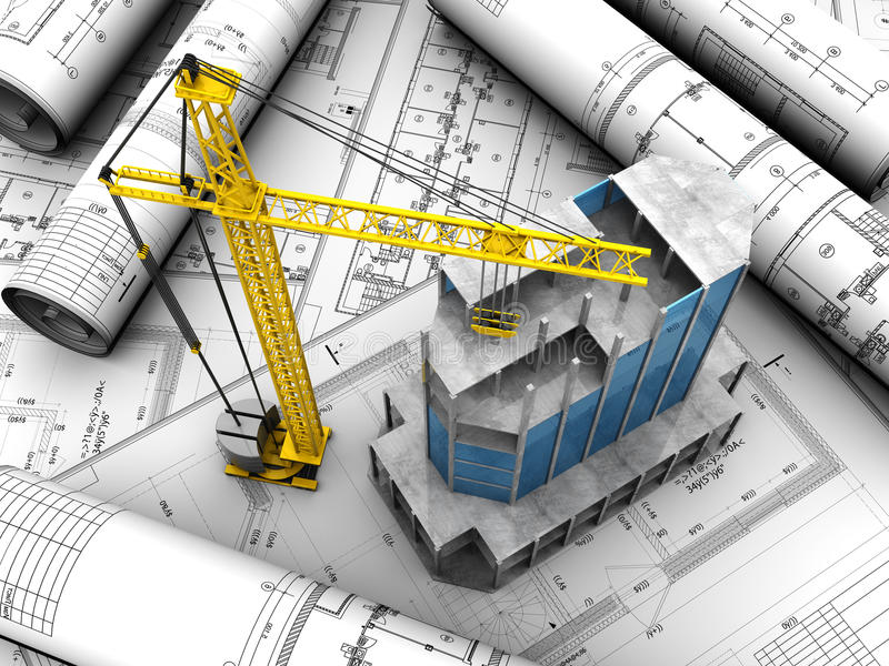 Download Building layout stock illustration. Image of housing - 26040574