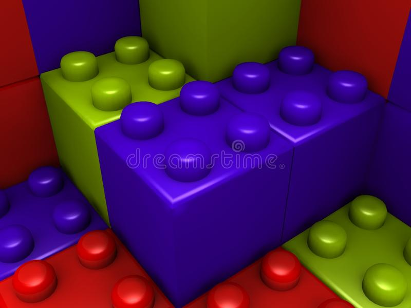 Download Building lego blocks stock illustration. Image of children - 12110198