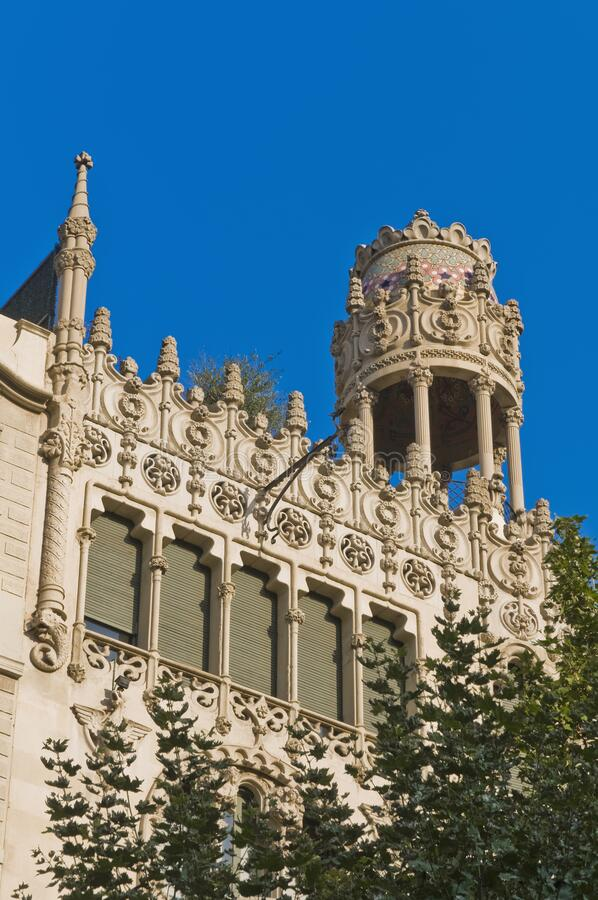 Building in Barcelona, Spain. Building located on Passeig de Gracia at Barcelona, Spain royalty free stock photo