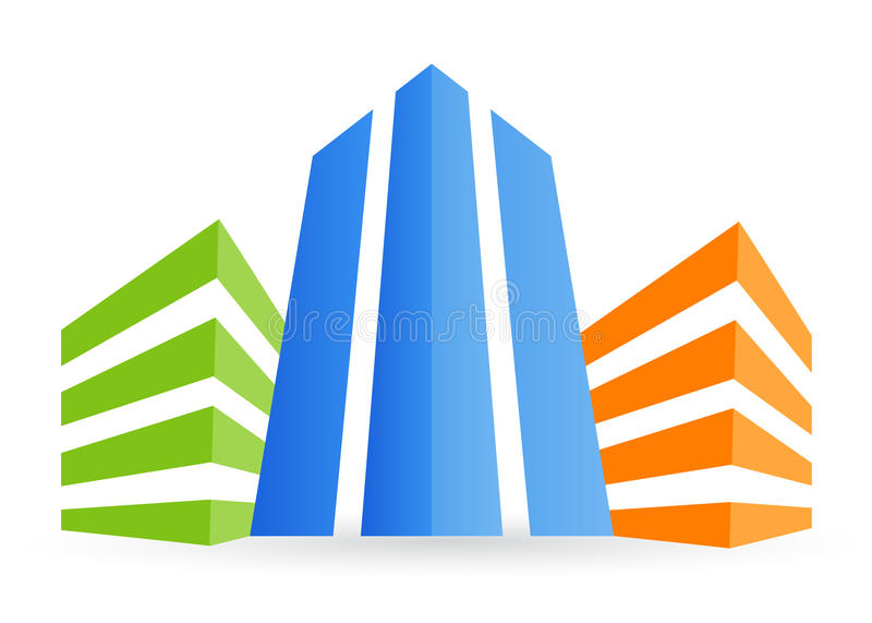Building logo. Illustration of building logo design on white background