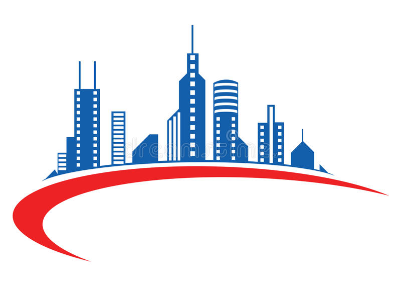 Building logo. Illustration of building logo design isolated on white background