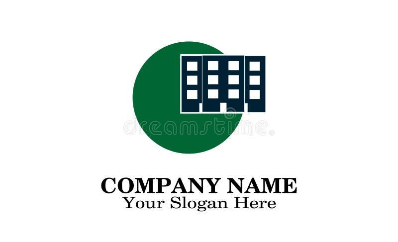 Building logo design stock illustration