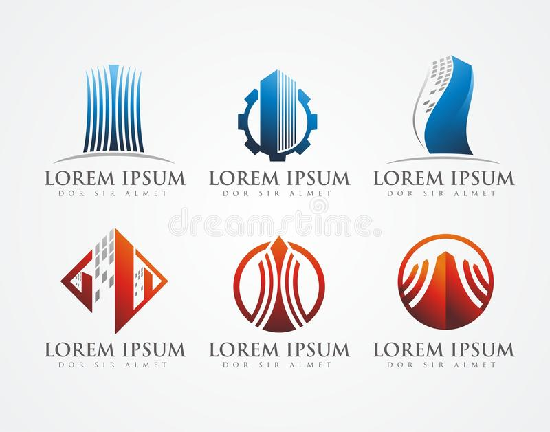 Building logo stock photo
