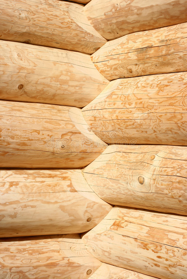 Building logs house royalty free stock images