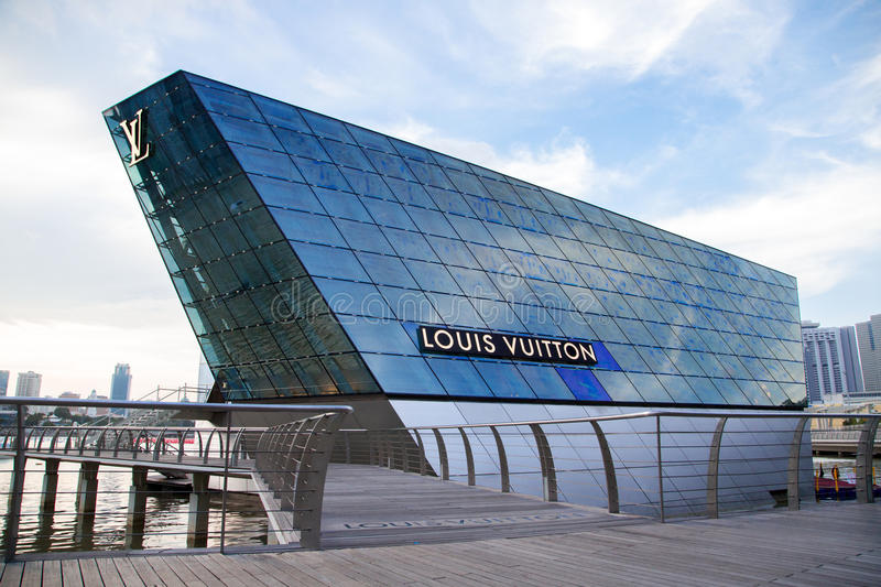 Building Louis vuiton royalty free stock photography
