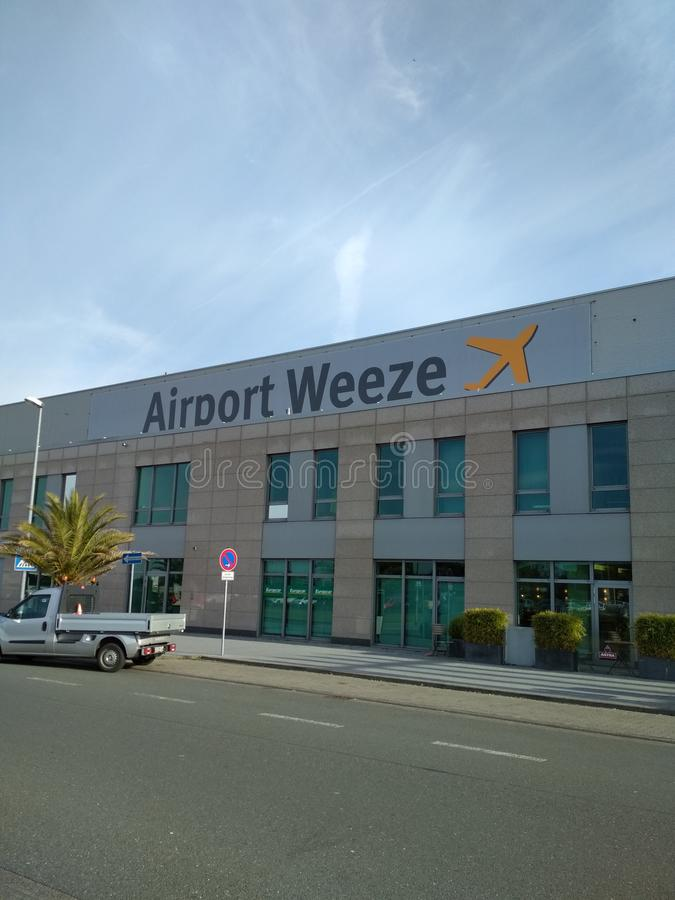 Regional airport Weeze. Building of low cost regional airport Weeze in Weeze Dusseldorf, Germany royalty free stock photography