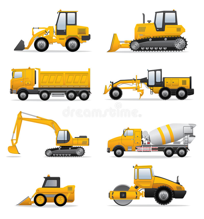 Download Building machines set stock vector. Illustration of engine - 34215046